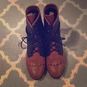 Jeffrey Campbell Two Toned Rider Boots